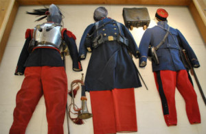 WWI French Unifroms Red and Blue Peronne